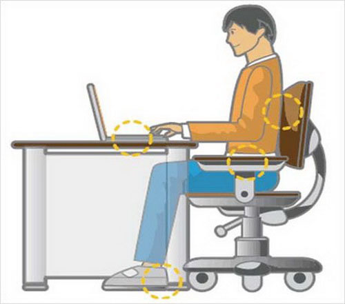 Standard Sitting Posture When Using Computers Learning