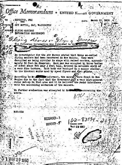 2001 và những bí ẩn về người ngoài hành tinh, UFO - 1