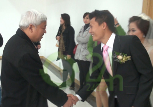 Bầu Kiên mừng đám cưới Thành Lương - 6