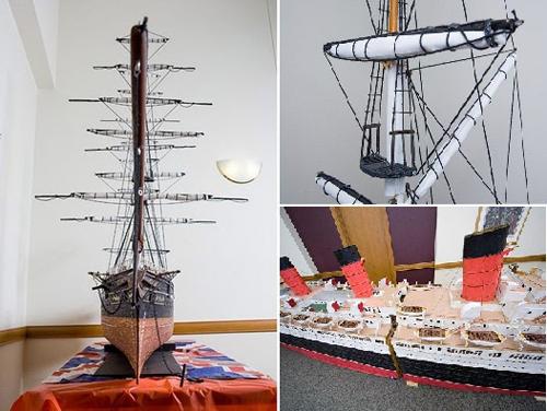 Mô hình tàu thủy làm từ 1 triệu chiếc tăm - 4