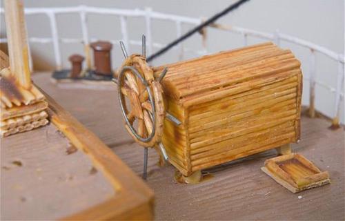 Mô hình tàu thủy làm từ 1 triệu chiếc tăm - 5