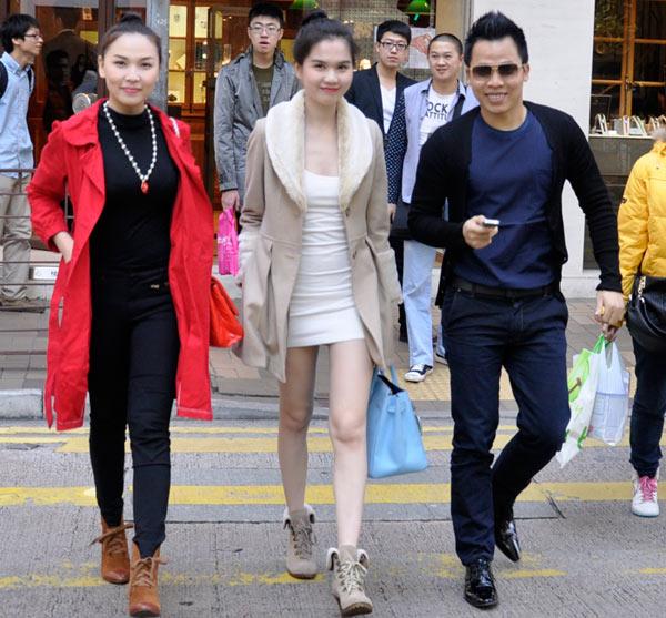 Ngọc Trinh khoe chân dài ở Hồng Kông - 4