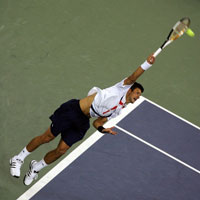 Tennis: Djokovic & bí kíp kick serve