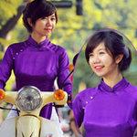 Hoa khôi Hà Nội dịu ngọt với sắc tím Huế