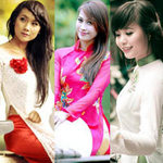 Bạn trẻ - Cuộc sống - Hoa khôi HN khoe dáng ngọc với áo dài