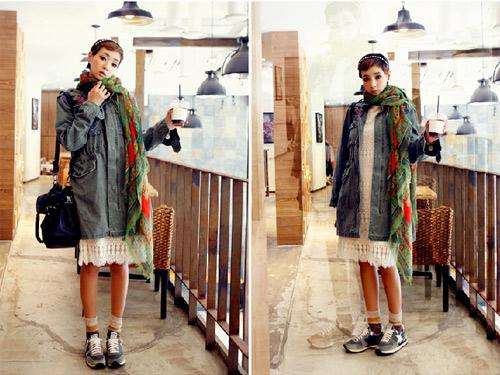 Làm nên cá tính với áo khoác oversize - 2