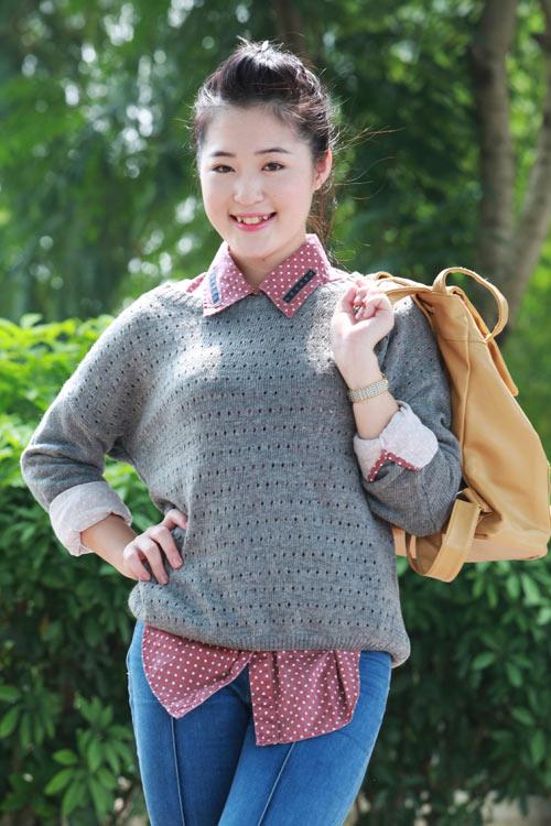 Thiếu nữ Hà thành làm điệu với áo len - 3