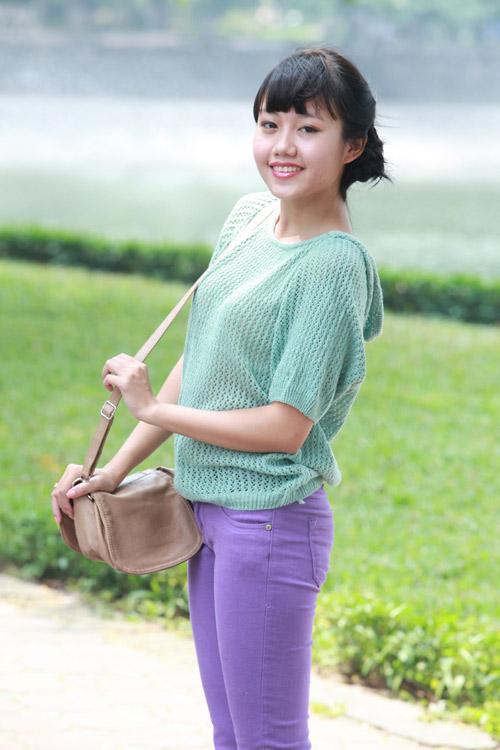 Thiếu nữ Hà thành làm điệu với áo len - 5