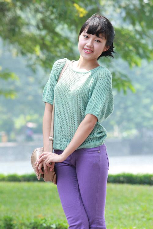 Thiếu nữ Hà thành làm điệu với áo len - 6