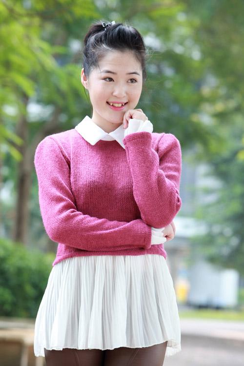 Thiếu nữ Hà thành làm điệu với áo len - 10