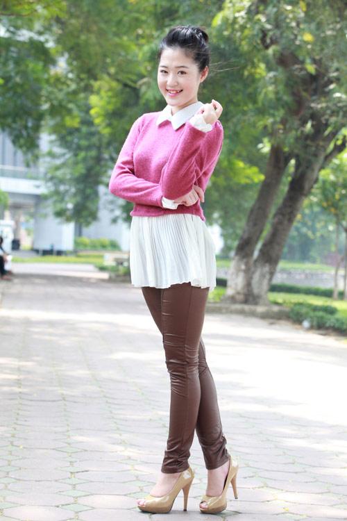 Thiếu nữ Hà thành làm điệu với áo len - 9