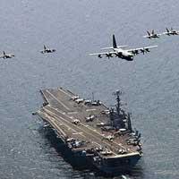 Tàu sân bay Mỹ tuần tra biển Đông