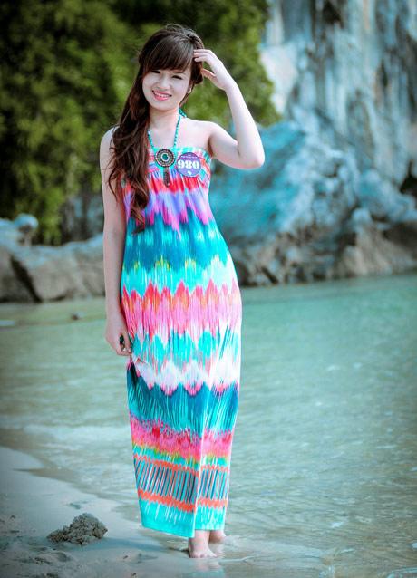 Nữ sinh Phương Đông khoe dáng ngọc ngà - 6