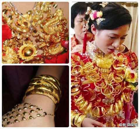 Cô dâu chơi trội... đeo 5 cân vàng - 3
