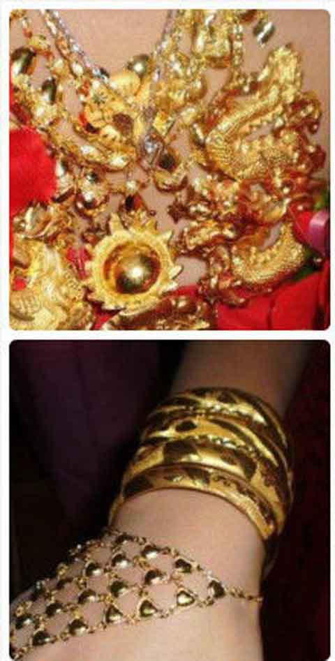Cô dâu chơi trội... đeo 5 cân vàng - 2