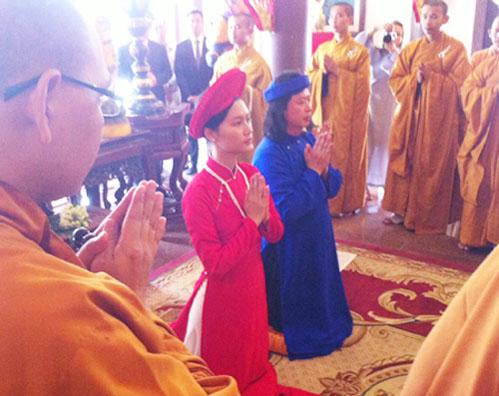 Đỗ Hải Yến lên chùa làm đám cưới - 2