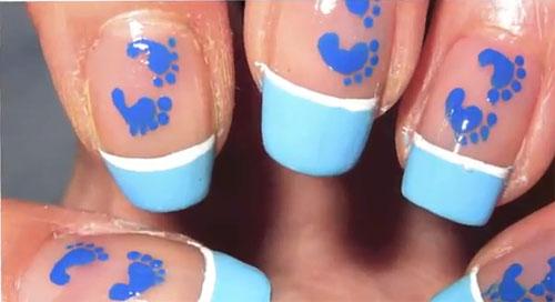 Vẽ bàn chân lên móng tay xinh - 1