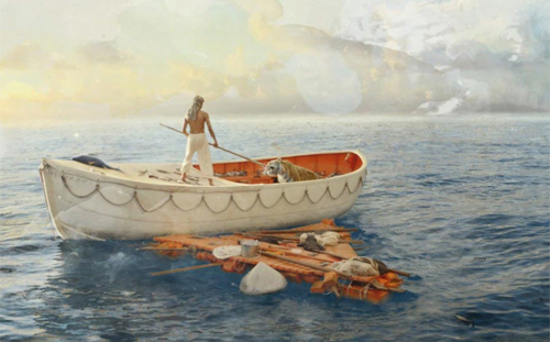 Phim cậu bé sống với hổ trên biển đến VN - 11