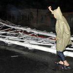 Tin tức trong ngày - Bão quật đổ tháp truyền hình cao nhất Bắc Bộ