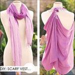 Thời trang - Biến khăn thành áo với 3 bước dễ dàng