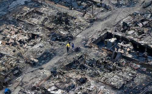 Mỹ: Cảnh hoang tàn sau siêu bão Sandy - 3