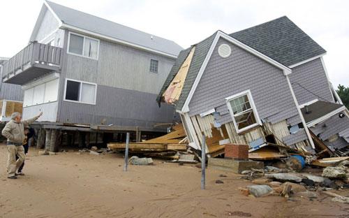 Mỹ: Cảnh hoang tàn sau siêu bão Sandy - 4