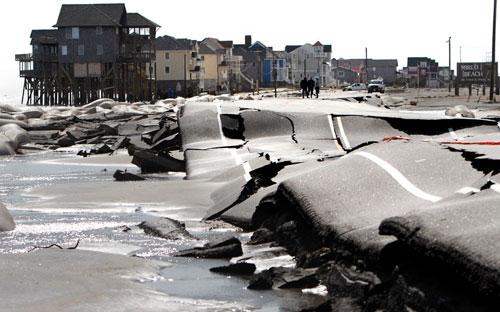 Mỹ: Cảnh hoang tàn sau siêu bão Sandy - 5
