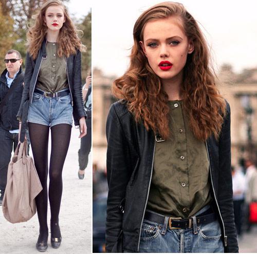 Ngay lanh van sexy voi short jeans