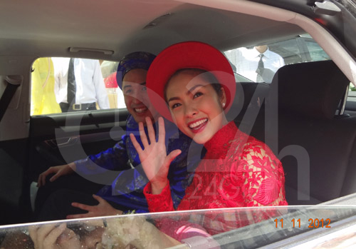 Toàn cảnh lễ rước cô dâu Hà Tăng - 5
