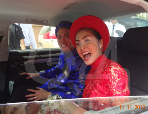Toàn cảnh lễ rước cô dâu Hà Tăng - 4
