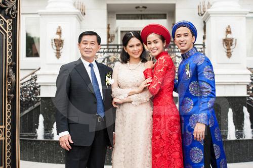 Toàn cảnh lễ rước cô dâu Hà Tăng - 1