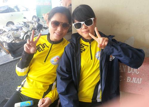 Thu Hiền tham gia đạp xe xuyên Việt - 4