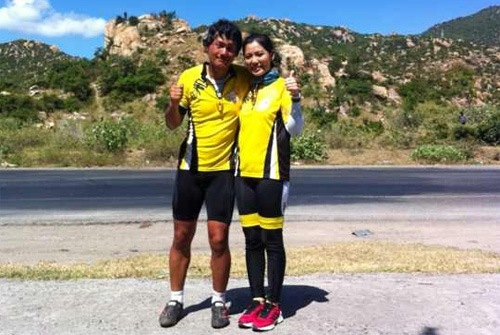 Thu Hiền tham gia đạp xe xuyên Việt - 11