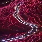 Phi thường - kỳ quặc - Hàng nghìn đèn led thắp sáng ruộng bậc thang