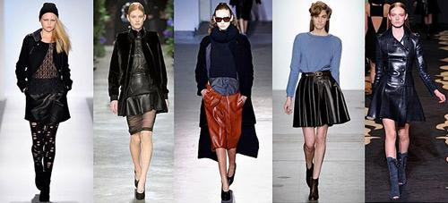 """Mặc váy da xòe """"chất"""" trong mùa lạnh - 1"""