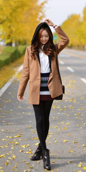 Váy ngắn và legging trẻ trung ngày lạnh - 6