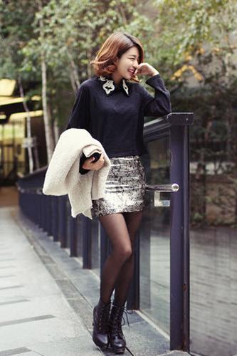 Váy ngắn và legging trẻ trung ngày lạnh - 7
