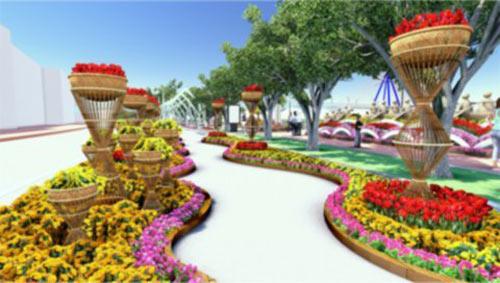Đà Nẵng: 17 tỷ làm 1 km đường hoa xuân - 4