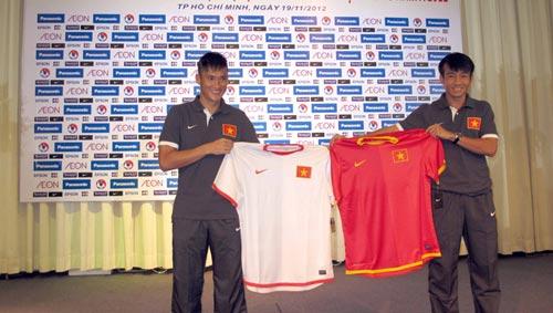 ĐTVN ra mắt áo đấu AFF Suzuki Cup 2012 - 2