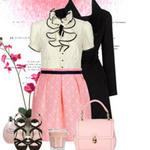 Thời trang - Cách mặc váy pastel ngọt ngào ngày đông