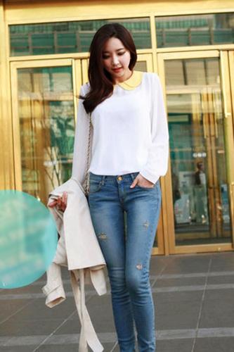 Xuống phố ngày đông thật sexy với Jeans - 13