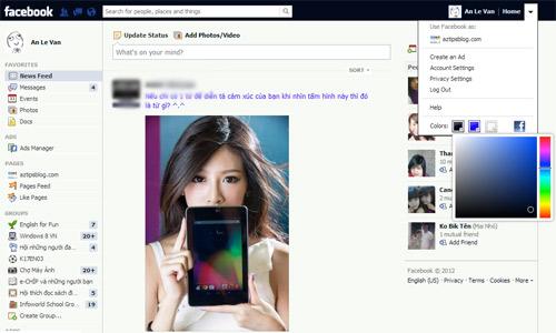 """Thay """"áo"""" mới cho trang Facebook cá nhân - 2"""