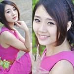 Bạn trẻ - Cuộc sống - Thu Trang ngọt ngào với sắc hồng tím