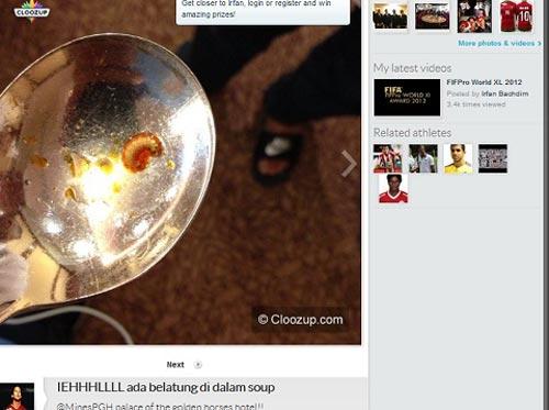 Sao Indonesia phát hoảng vì có giòi trong thức ăn - 1