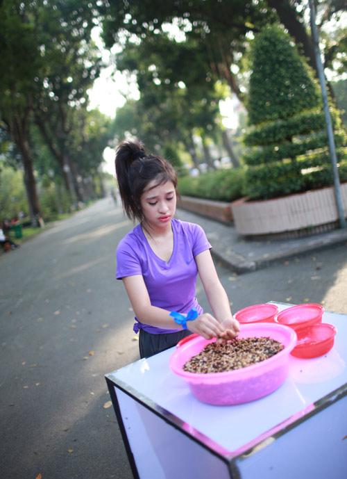 Thí sinh Miss Teen ghép hoa từ hạt đậu - 5