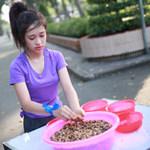 Bạn trẻ - Cuộc sống - Thí sinh Miss Teen ghép hoa từ hạt đậu