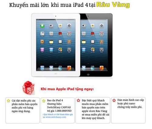 Khuyến mãi lớn khi mua iPad 4 tại Râu Vàng - 4