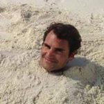 Thể thao - Federer khoe cảnh tắm cát