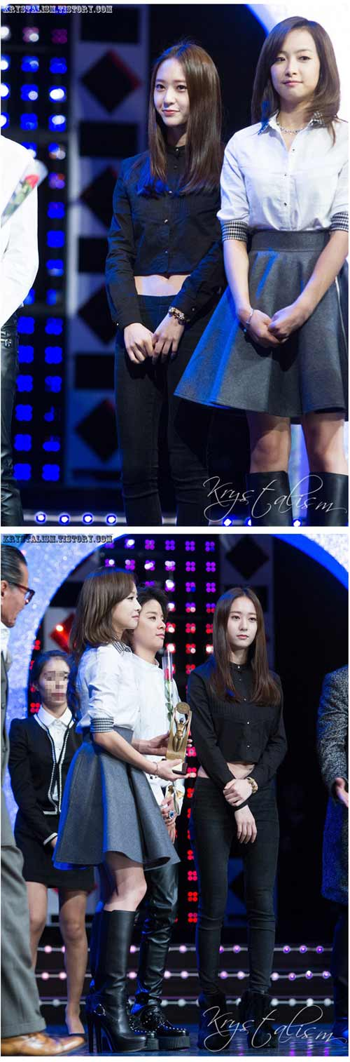 Krystal f(x) mặc áo lấp lửng khoe eo đẹp - 2