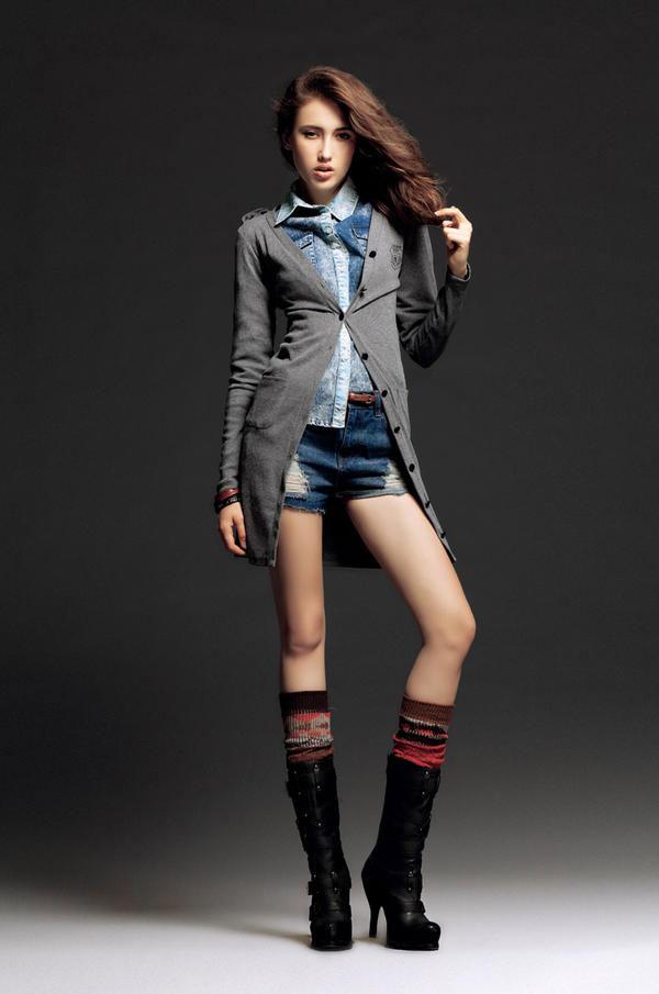Mặc jeans sành điệu mùa đông - 1